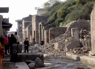 Rubble in Pompeii in 2010