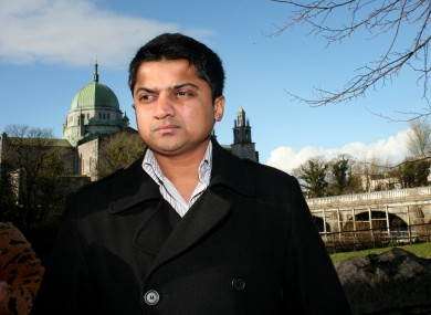 Praveen Halappanavar at the preliminary inquest into the death of his wife last month.