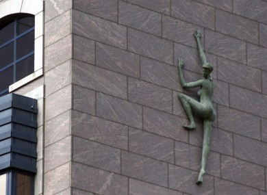 A statue on the side of Treasury Buildings, the home of the NTMA.