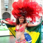 A samba dancer performs. Photo: Sam Boal/Photocall Ireland