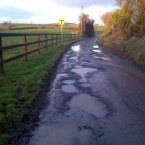 Daithe McCartney's local road on the Monaghan/Louth border.