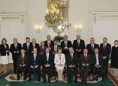 The Ministers in the 31st Dail receiving their seal of office at a ceremony in ras an Uachtarin (file photo)
