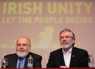 Francie Molloy with party president Gerry Adams last month.