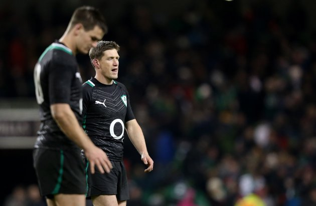 Jonathan Sexton and Ronan O'Gara dejected after the game 10/11/2012