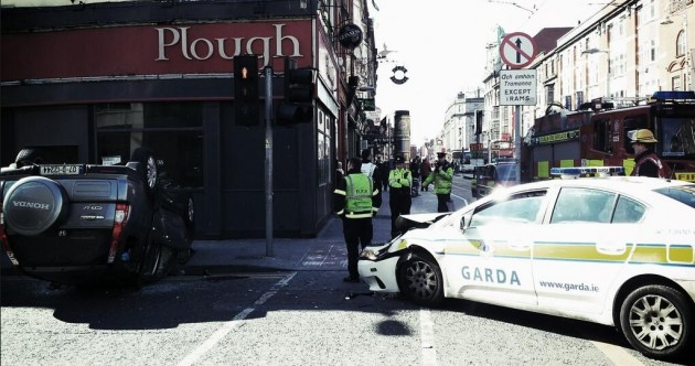 PICS: Luas restored after earlier garda vehicle collision