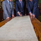 Prof Christopher Ridgway, Curator at Castle Howard, Prof Philip Nolan, President, NUI Maynooth, and Eric Booth, Senior Product Marketing Manager, Ancestry.com. (Image: Keith Arkins)