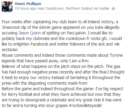 Owen Mulligan FB