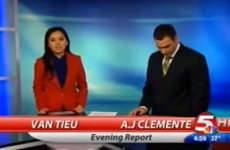 Local newsreader says 'f***ing s**t'… on his first day