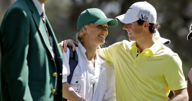In pictures: Caroline Wozniacki caddying for boyfriend Rory McIlroy at Augusta
