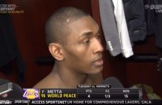 'I'm too sexy for my cat' — Metta World Peace gave this bizarre interview after his comeback