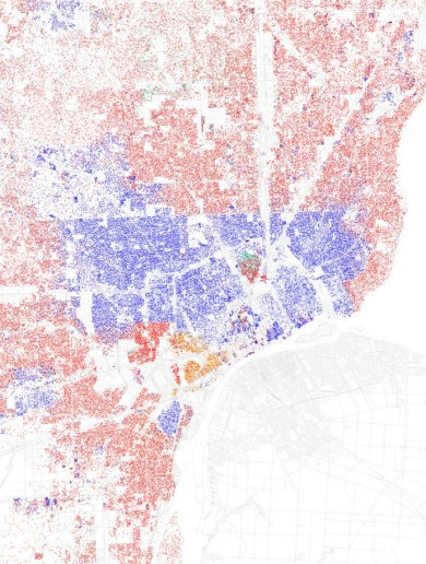 These maps show 21 highly segregated USA cities