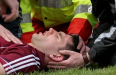 Galway's Fergal Moore recovered after being knocked out in hurling league game
