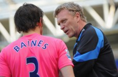 Kenwright warns Moyes off luring Baines to Old Trafford